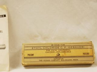 Vintage Gebauer s Ethyl Chloride   For General and local Anaesthesia  w Original Box   Paperwork