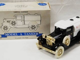 Ford Model A Tanker  with locking Coin Bank   Die Cast Metal  limited Edition