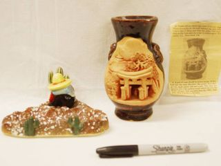Vintage  Japanese Doro Yaki  Pottery Ware and Decor  Very Cool