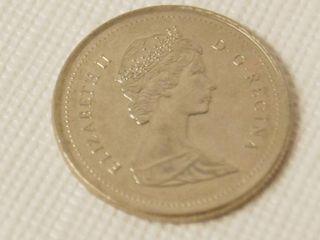 1989 Canada  25 Cents  Elizabeth II   D G Regina