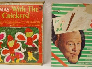 Vintage 12  Record Albums  Christmas With The Happy Crickets     Burl Ives  Have A Holly Jolly Christmas