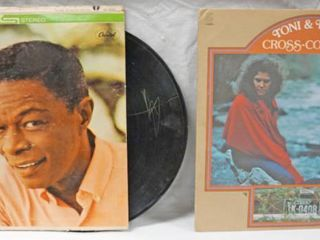 Vintage 12  Record Albums  Nat King Cole   love     Toni   Terry Cross Country