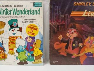 Vintage 12  Record Albums  Frosty s Winter Wonderland     Shirley  Squirrely   Melvin  live