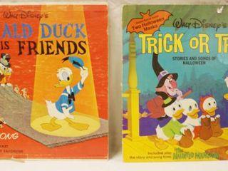 Vintage 12  Record Albums  Walt Disney s Donald Duck and His Friends     Walt Disney s Trick or Treat