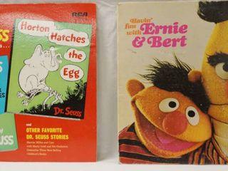 Vintage 12  Record Albums  Dr  Seuss     Havin  Fun With Ernie   Bert