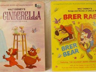 Vintage 12  Record Albums  Walt Disney s   Cinderella    Walt Disney s   Brer Rabbit