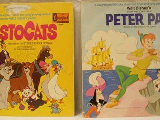 Vintage 12  Record Albums  The Aristocats     Walt Disney s  Peter Pan