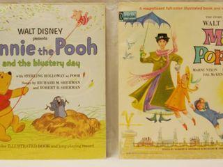 Vintage 12  Record Albums  Walt Disney s   Winnie the Pooh     Walt Disney s   Mary Poppins