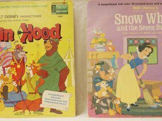 Vintage 12  Record Albums  Walt Disney s   Robin Hood     Walt Disney s   Snow White and the Seven Dwarfs