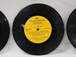 lot of 3  Vintage 7  Records   Walt Disney s   Robin Hood  Cinderella    Scholastic Records  Best Friends for Frances