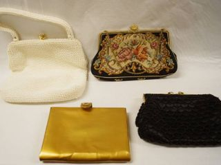 lot of 4 Vintage Hand Purses  See Photos