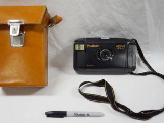 Vintage Polaroid Camera  Auto Focus  Capitiva SlR SE  w  leather Case