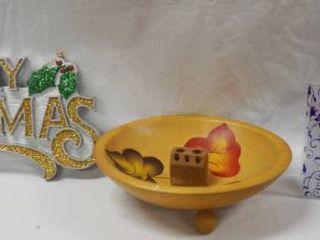 Merry Christmas Sign  Nut Cracker Bowl    More