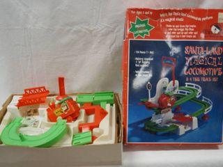 Vintage Christmas   Snow land Magical locomotive   Train Track Set  In Original Box