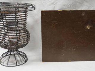 House Decor  Basket    Magazine Holder  Wood