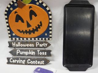 Halloween Wall Hanger  Wireless Accessories  and Black Tray