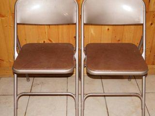 lot of 2 Samsonite Metal Chairs