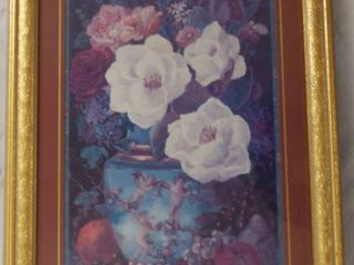 Flower Framed Wall Picture  Home Interiors
