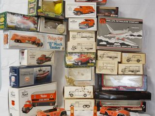 lot of Vintage Empty Car Truck Boxes  w  2 Die Cast Metal Cars Included  See Photos