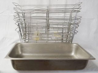 lot of 9 Wire Pan Holders   20  long  12  Wide   8  Deep  w  1 Pan Included  Great for Party