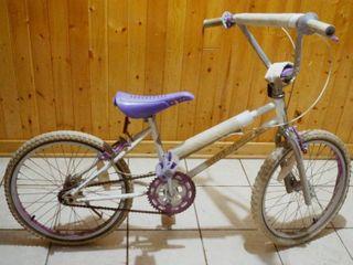Vintage 20  White Bike w Purple Seat  Midnight Runner
