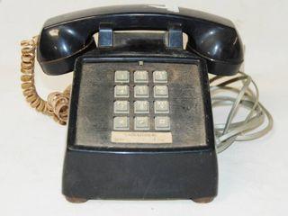Vintage Black Push Button Telephone