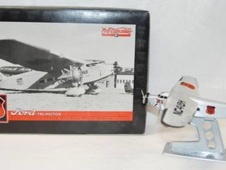 Collectible Phillips 66  FORD Tri Motor Airplane w Stand