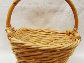 Solid Wooden Bamboo Basket   17  tall and 141 2  wide  Great for the Holidays