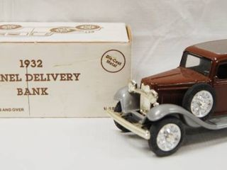 Collectible  1932 Panel Delivery Bank  Trustworthy Hardware  Die Cast Metal  locking Coin Bank w Key