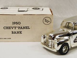 Collectible  1950 Chevy Panel Bank   Hershey   Kisses    Die Cast Metal   locking Coin Bank w Key VERY COOl