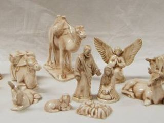 CHRISTMAS Nativity Scene  w  Baby Jesus  Mother Mary  Father Joseph  2 Angels  3 Wise Men  Sheppard Boy    Animals   More