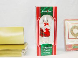 Christmas Boxes  Ornament    Christmas Cards  See Photos  Boxes Size 7x4  Ornament   Cards in Original Packaging