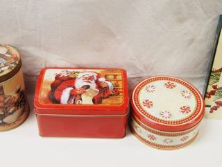 CHRISTMAS Tin  lot of 4    Christmas Cards