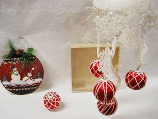 Christmas Decor  Ornament  Crocheted Mobile  See Photos