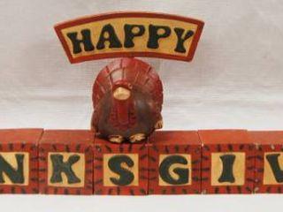 Happy Thanksgiving Decor   Blocks    Midwest Corp