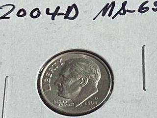2004 D Roosevelt Dime
