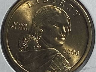 2000 Sacagawea Golden One Dollar Coin