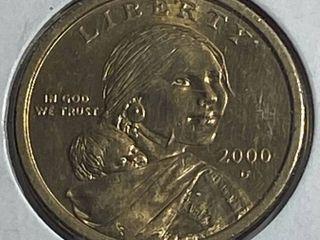 2000 D Sacagawea Golden One Dollar Coin