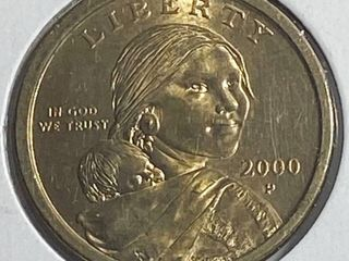 2000 P Sacagawea Golden One Dollar Coin