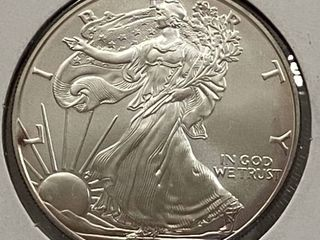 2007 American Eagle Silver Dollar   1 oz of  999 fine Silver