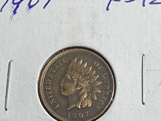 1907 Indian Head Penny   One Cent