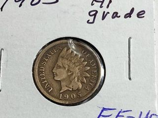 1905 Indian Head Penny   One Cent