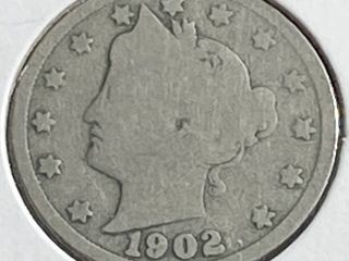 1902 liberty Head V Nickel