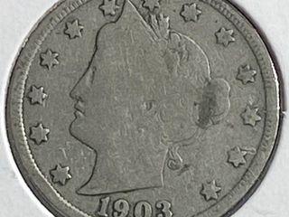 1903 liberty Head V Nickel