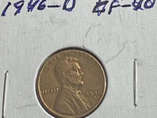 1946 D lincoln Head Wheat Penny