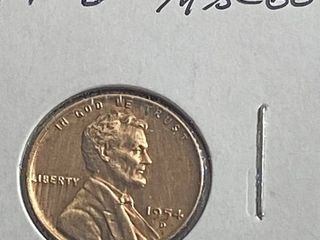 1954 D lincoln Head Wheat Penny