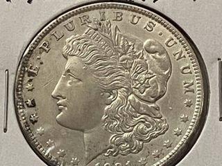 1921  1 Morgan Silver Dollar   Very Collectible