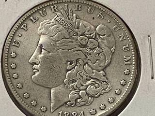 1884 S  1 Morgan Silver Dollar   Very Collectible