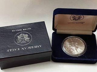 1994 Silver Eagle Dollar   1 oz of  999 fine Silver