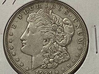 1921 D  1 Morgan Silver Dollar
